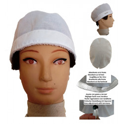 Cap for the operating room white man for short hair with name