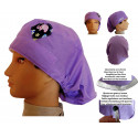 Hat for the operating room lilac long hair veterinary dentists kitchen