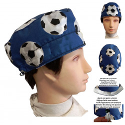 Cap for surgeon blue soccer balls for short hair name