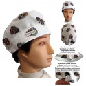 Surgical cap. white man skulls mexican with name