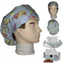 Surgical cap woman strollers long hair absorbent strip and tensor