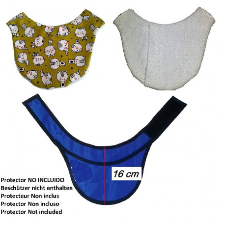 Protective collar cover Thyroid 16 cm approx radiology x-rays