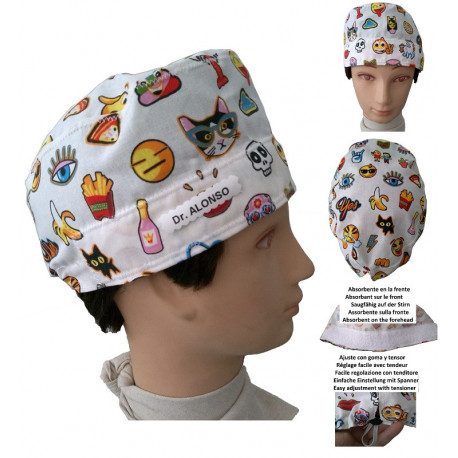 Hat operating room Funny Emoticons for short hair with your name