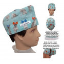 Veterinary hat PUPPIES WITH TIES for short hair with name
