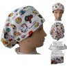 Doctor woman caps Long hair Emoticons absorbent strip and tensioner