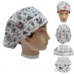 Hat for the operating room PIRATES long hair veterinary dentists kitchen