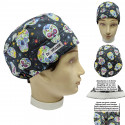 Surgical cap Mexican skulls Unisex with name