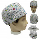 surgical cap Unisex instrumental dentist for short hair with name