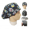 Woman surgery cap Mexican skulls absorbent strip and tension