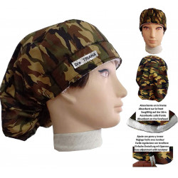 Doctor woman caps Long hair Military camouflage absorbent strip and tensioner