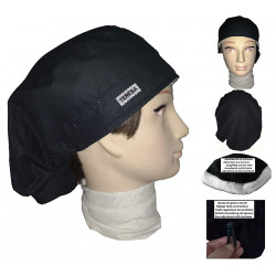 Cap for the operating room black long hair strip absorbent and tensor
