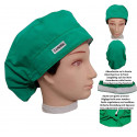 Medical cap Green long hair strip absorbent and tensor