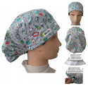 Dentist's Cap Dental Instrumentation for long hair with absorbent strip and tension