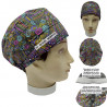 Cap for the operating room Unisex Ethnic for short hair with name