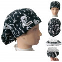 Woman surgery cap Skeletons absorbent strip and tension