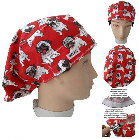 Hat for the operating room Carlinos dogs long hair veterinary dentists kitchen