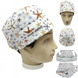 Operating Room Cap Starfish Unisex Short Hair With Towel On Forehead And Adjustable Surgeon Dentist Veterinarian Cook