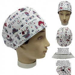 Operating Room Cap Unisex Pirates For Short Hair Veterinary Dentist Surgeon Cook With Adjustable Forehead Towel