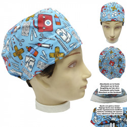 Operating Room Cap Unisex Medical Kit Short Hair Unisex Towel On The Forehead And Easily Adjustable With