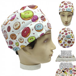 Operating Room Cap Unisex Donuts Short Hair Unisex Veterinary Dentist Surgeon Cook With Towel On The Forehead