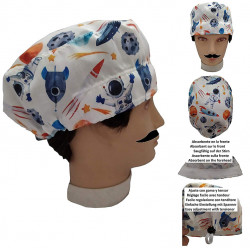 Man In Surgical Caps Space For Short Hair Surgeon Dentist Veterinary Kitchen With Absorbent And Adjustable