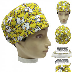 Operating Room Medical Cap Unisex Short Hair Rubber Ducks Unisex Absorbent On The Forehead And Easily Adjustable