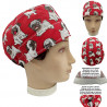 Operating Room Unisex Cap Pugs Short Hair Doctor Surgeon Dentist Veterinary Kitchen With Towel On Forehead, Adjustable