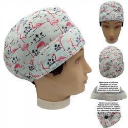 Man Surgical Cap Flamingos Short Hair Doctor Surgeon Dentist Veterinary Cook Absorbent On The Forehead And Adjustable